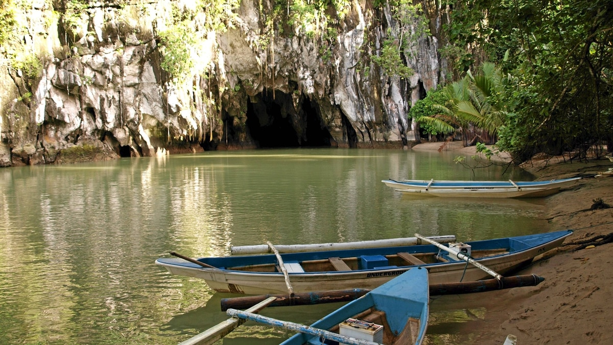 The Puerto Princesa Subterranean River National Park is a World Heritage Site, and home to the world's longest underground navigable river.