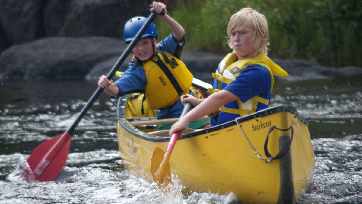 Carolyn Pullen sent us this photo of Ben and Jack, both 11, as they practice first tandem eddy turns on a perfect summer day on the Lower Madawaska River.