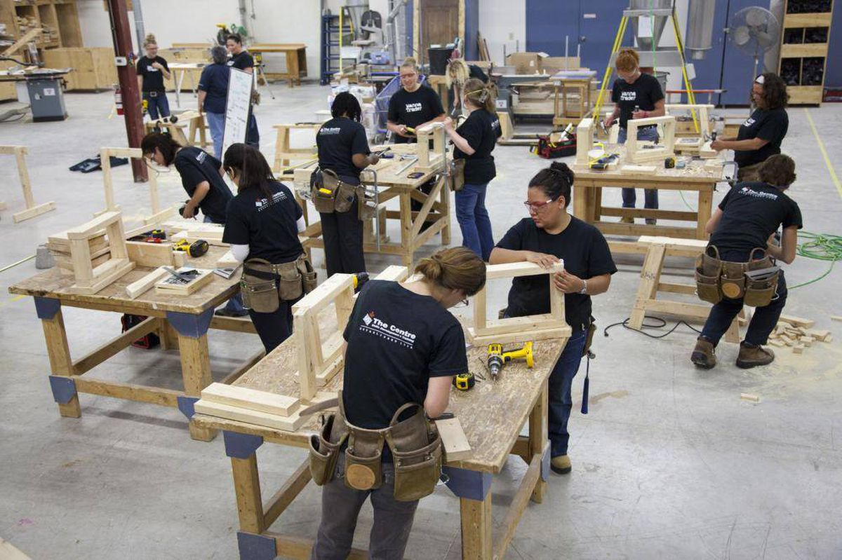 these courses produce women who are cut out for carpentry