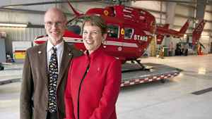 Greg and Linda Powell are key players behind STARS (Shock Trauma Air Rescue Society), a non-profit that provides helicopter rescue in Alberta.
