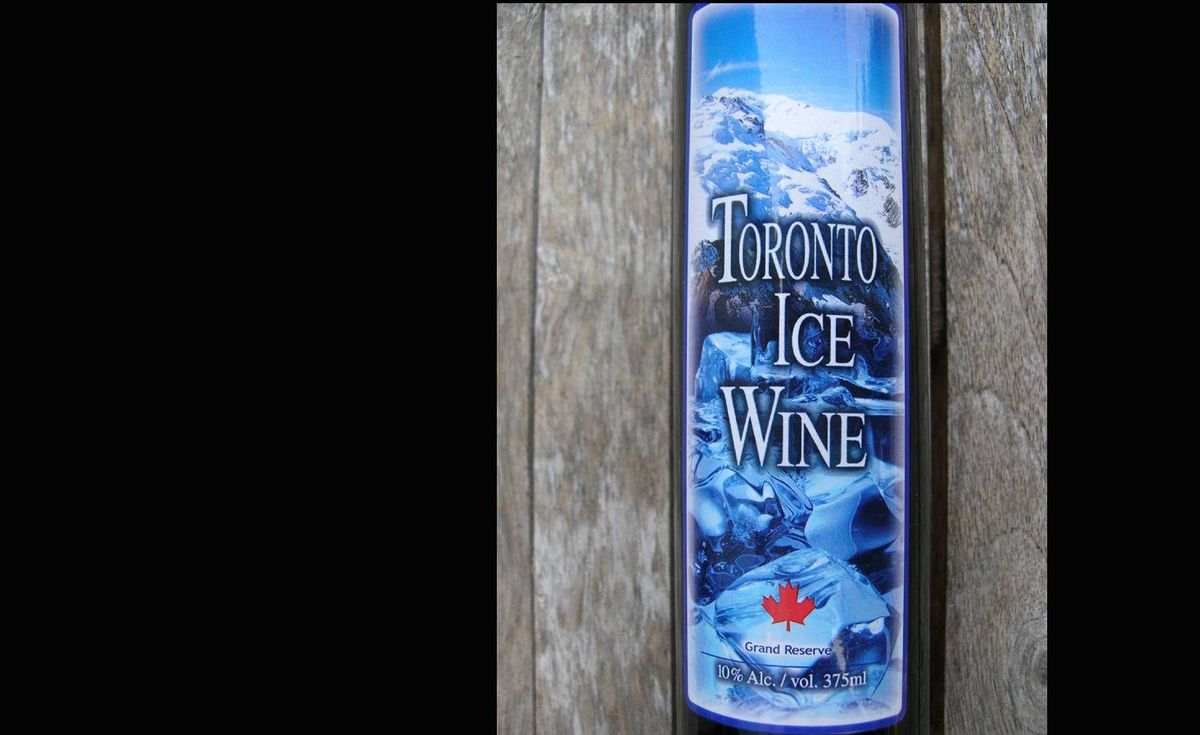 History of icewine: Pliny the Elder, the Roman who lived in the first century AD, wrote of grapes being picked after a first frost. Whether that was deliberate or a means of salvaging a harvest, the practice dropped out of sight for 18 centuries. Ice-wine-style production turned up again in Germany with the 1829 harvest, after people noticed that grapes, originally left on the vine as animal fodder, produced very sweet must. (At right: An example of faux ice wine)
