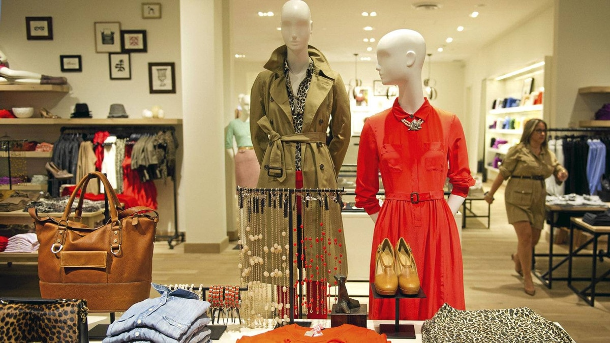 A display at the new J. Crew location at Yorkdale Mall in Toronto.