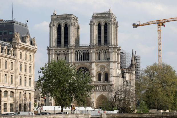 Notre-Dame's great bell tolls on anniversary of devastating fire