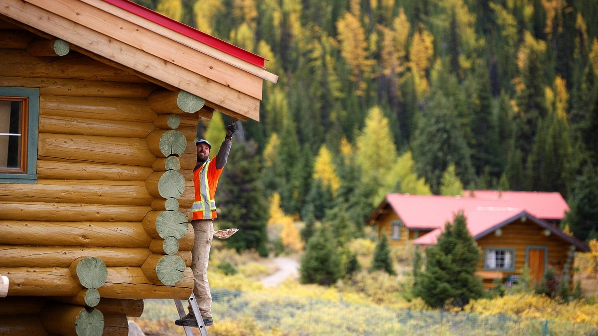 Restoration work continues on Mt. Assiniboine Lodge in Mt. Assiniboine Provincial Park, B.C., Friday, Sept. 23, 2011. The lodge was built in 1928 by the Canadian Pacific Railway as the first ski lodge in the Canadian Rockies.