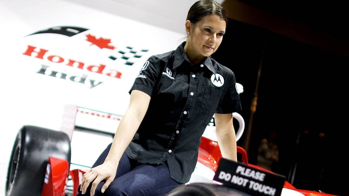Danica Patrick was photographed prior to the Honda Indy in Toronto in 2009. She finished the race in 6th place. (File photo)