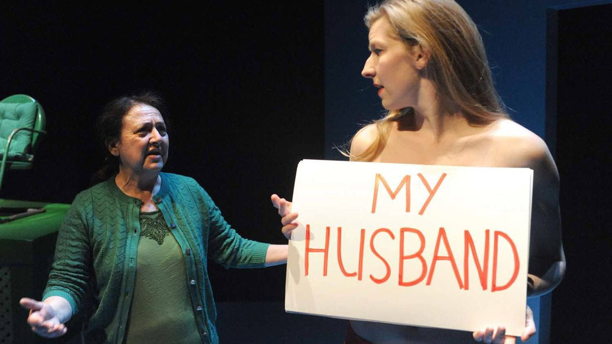 """Maria Vacratsis and Maev Beaty in """"The Happy Woman"""""""