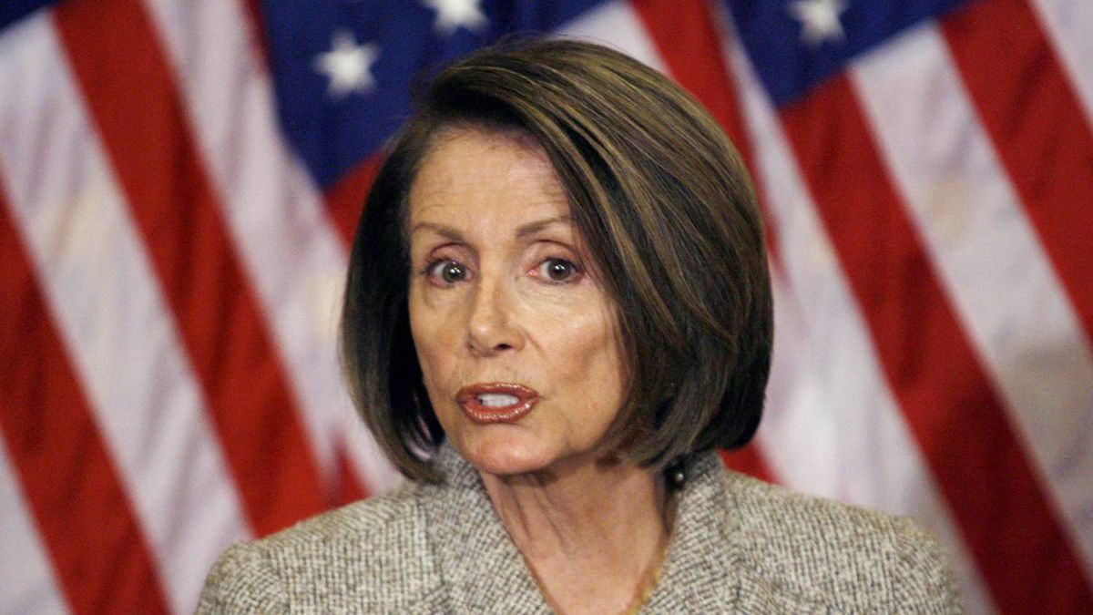 House Speaker Nancy Pelosi of Calif. speaks during a news conference on Capitol Hill in Washington. Jose Luis Magana/AP