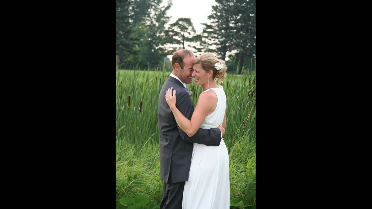 Dickon Worsley photo: Dancing with love - Our first dance in the garden after our wedding.