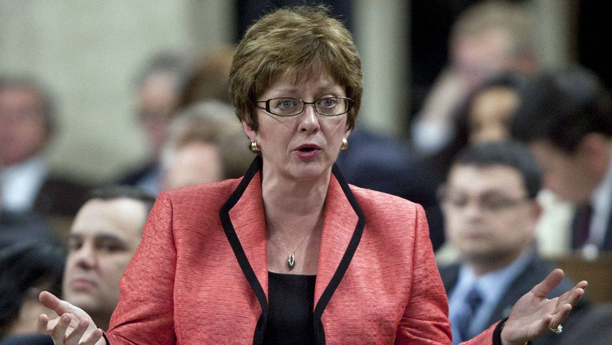 Human Resources Minister Diane Finley speaks during Question Period in the House of Commons on May 2, 2012.