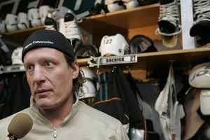 San Jose centre Jeremy Roenick the day after Sharks the Sharks were eliminated from the 2009 playoffs.