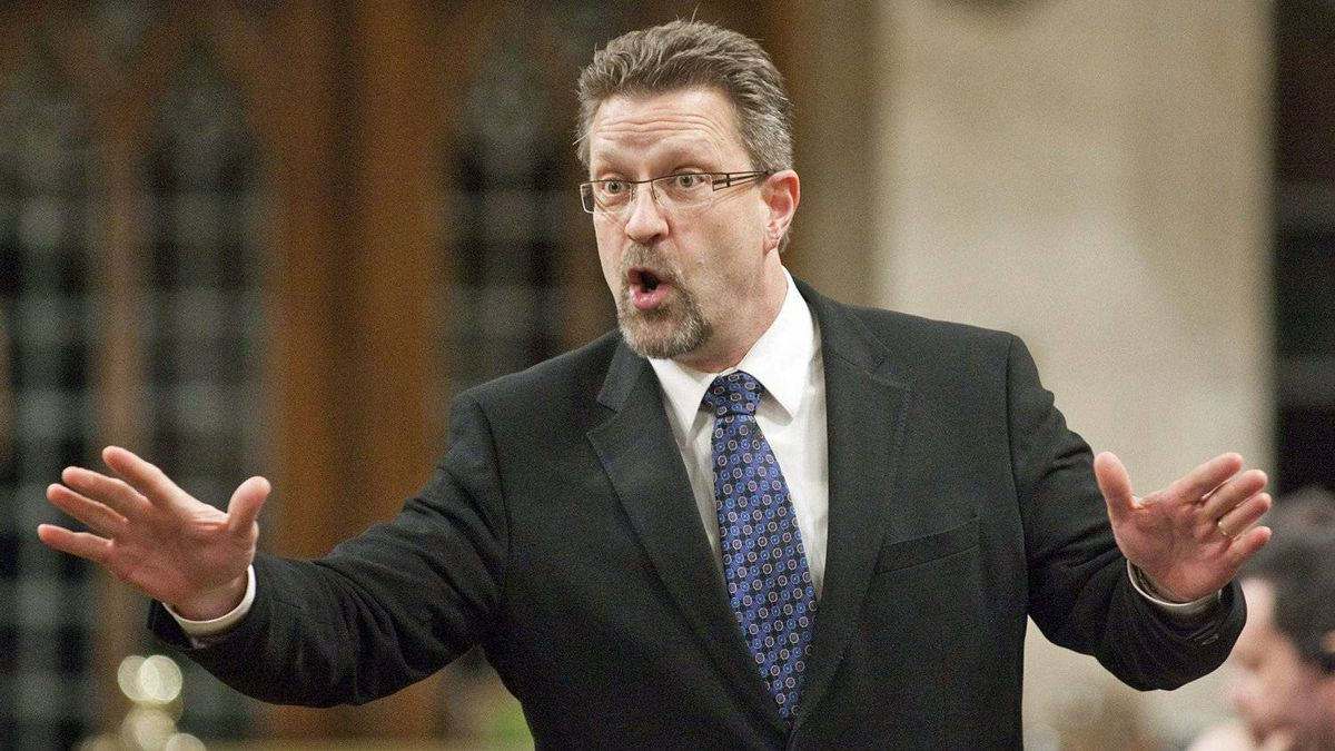 Transport Minister Chuck Strahl speaks during Question Period in the House of Commons on Feb. 3, 2011.