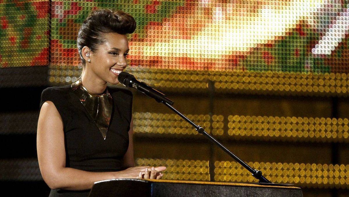 Alicia Keys performs.