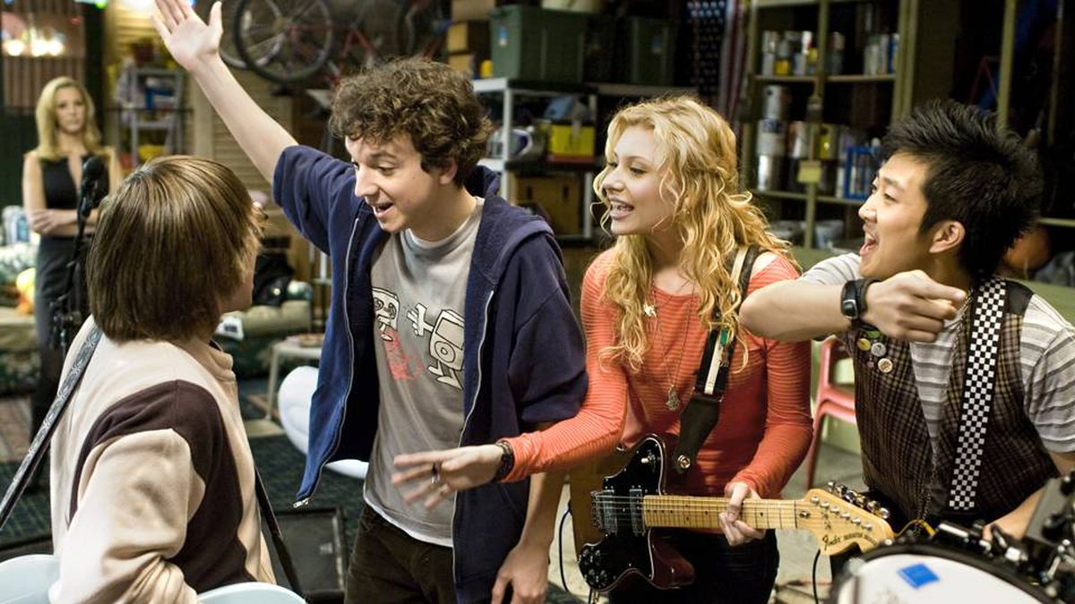 Charlie Saxton, left, Gaelan Connell, Alyson Michalka and Tim Jo: some nice observational and comedy moments.