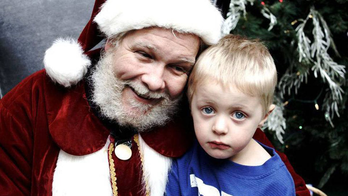 Bev Craig writes: This is of my son Eden Raine(3.5)…probably worried that he is on the naughty list!