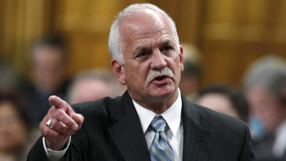 Canada's Public Safety Minister Vic Toews speaks during Question Period in the House of Commons on Parliament Hill in Ottawa May 6, 2010.