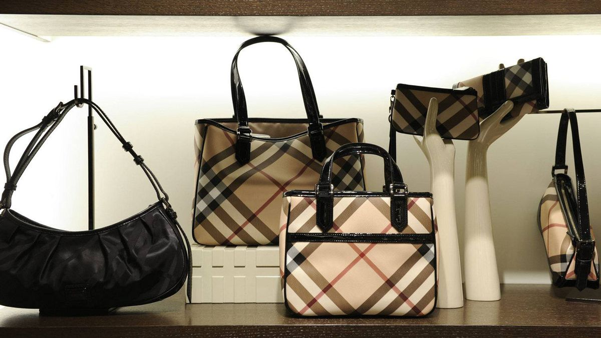 Bags and accessories at the new Burberry store on Bloor St West., Toronto.