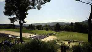 The picturesque site of the ceremony of the London 2012 Olympic Games at the site of ancient Olympia in Greece May 10, 2012.