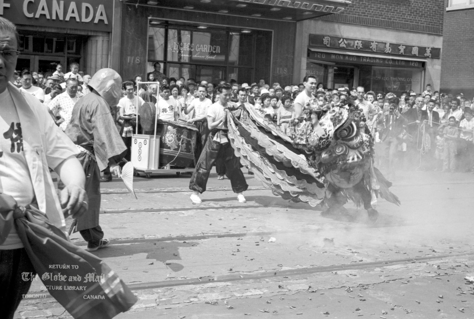 1962. Lung Kong Chinese Parade in Toronto, August 12, 1962. Photo by John Boyd / The Globe and Mail. Neg. #62224-16