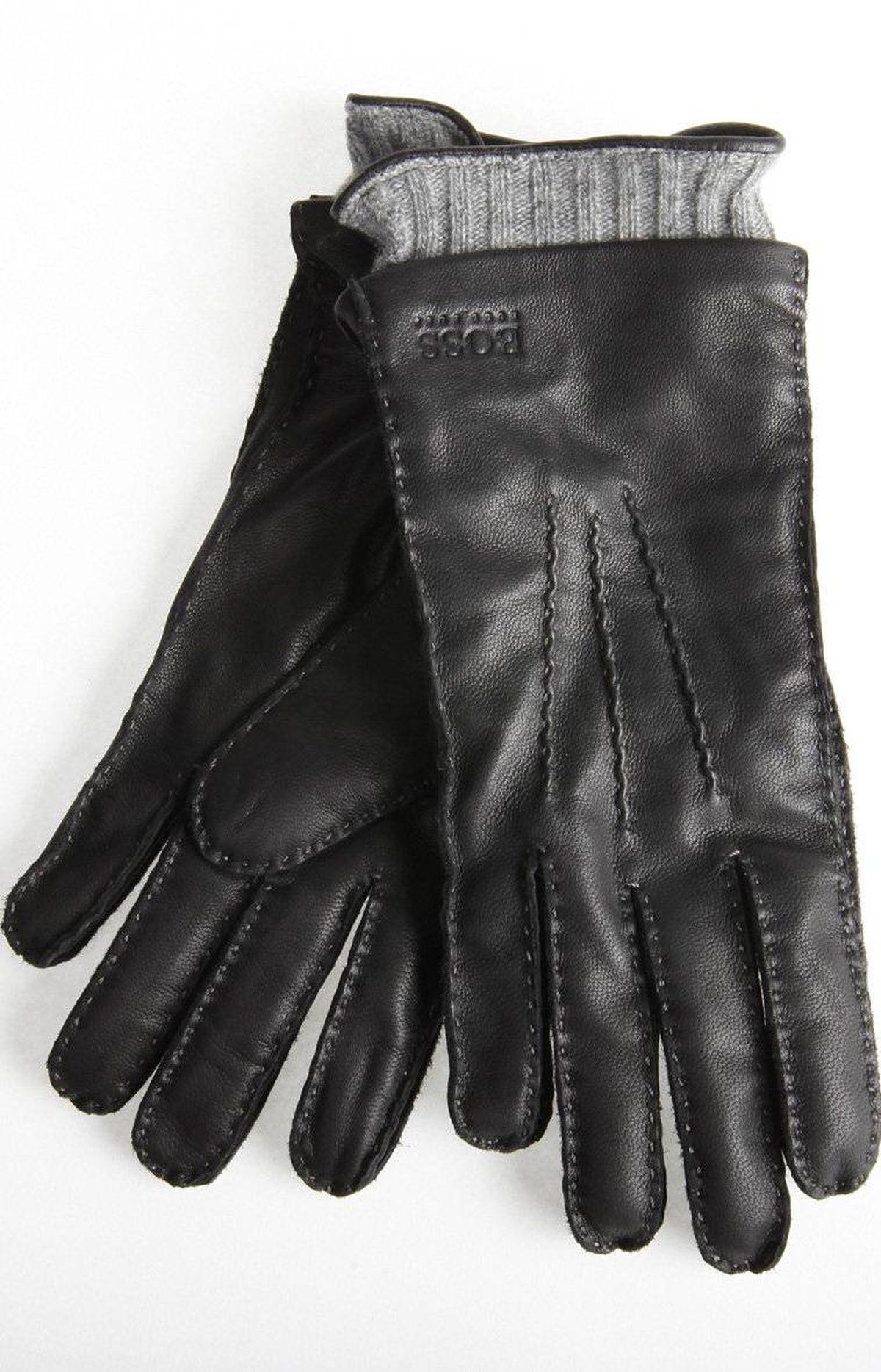 Black Hugo Boss gloves, $135 at Harry Rosen (www.harryrosen.com).