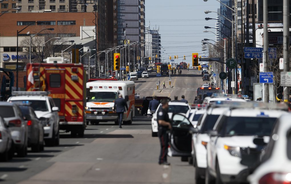 2480b197af004e In photos  Images from the scene of Toronto van attack - The Globe ...