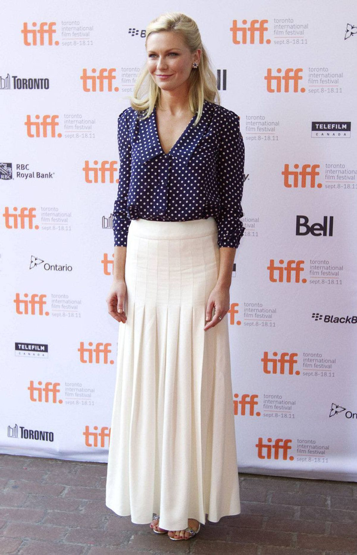 "Actress Kirsten Dunst arrives at the gala for the film ""Melancholia"" at the Toronto International Film Festival in Toronto Saturday, September 10, 2011."