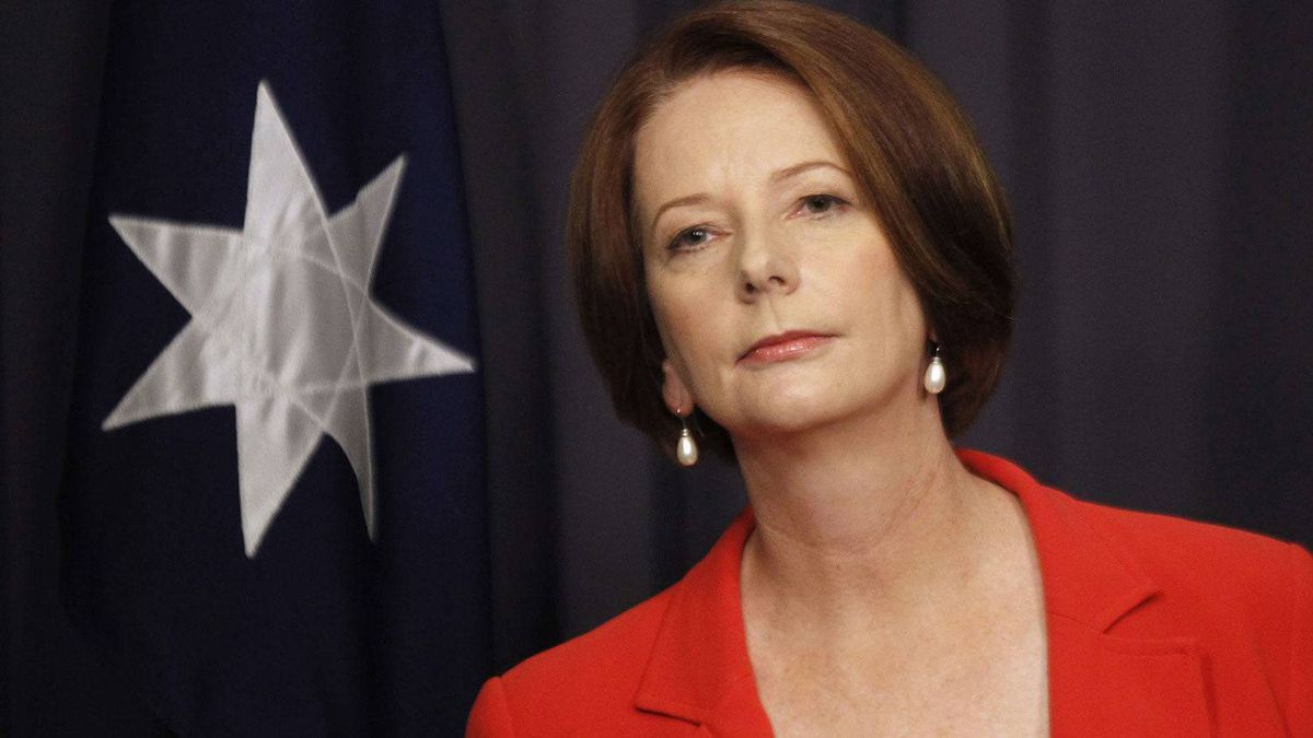 Australia's Prime Minister Julia Gillard listens to a question during a news conference at Parliament House in Canberra on Feb. 27, 2012.