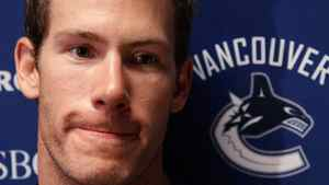 Vancouver Canucks' Brendan Morrison speaks to reporters in Vancouver, B.C., on Friday September 17, 2010. About 15 years in age and around 829 NHL games separate Morrison and Cody Hodgson. The two players are at opposite ends of their careers but both are trying to land a job with the Vancouver Canucks at training camp.