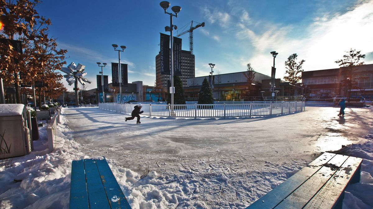 Can shopping mall ice replace old-time rinks? 'It gets families together,' says Lauren Genz of the Shops at Don Mills. 'People can put down their cellphones and Nintendo and participate in an activity together.'
