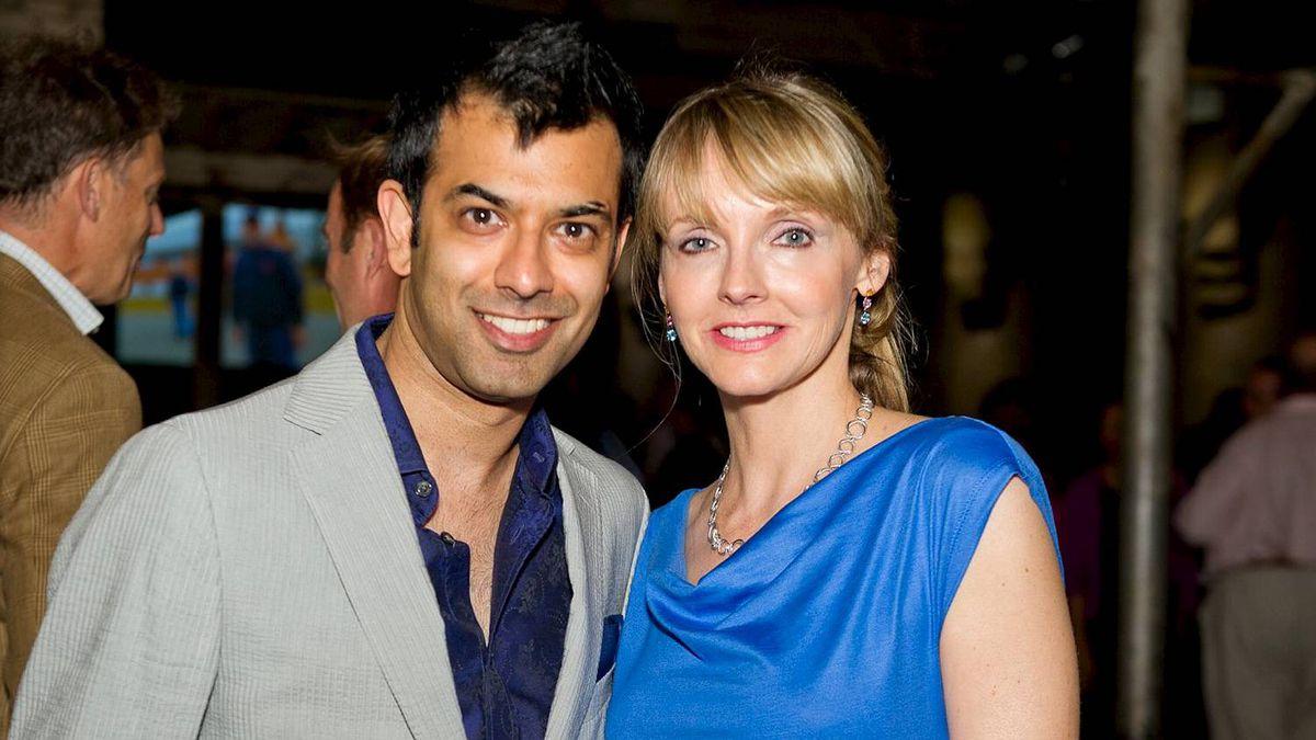 Zaib Shaikh and Kirstine Stewart at the Wine Bluff event.