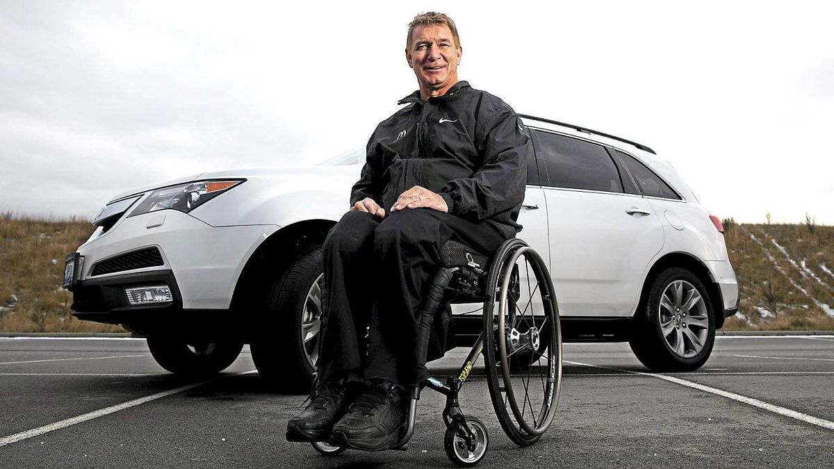 Rick Hansen uses the rear hatch '90 per cent of the time' to get in to his MDX.