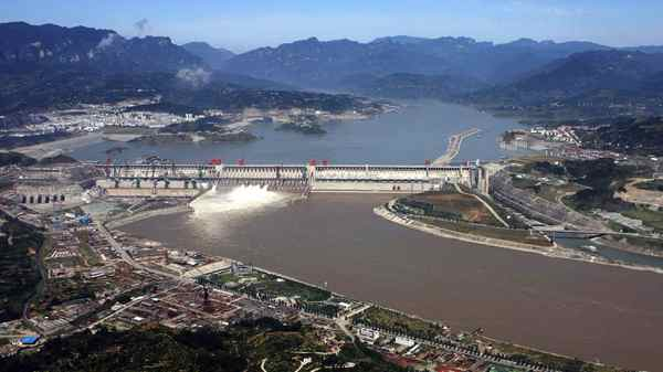 The Three Gorges Dam project site in Yichang, central China's Hubei province.