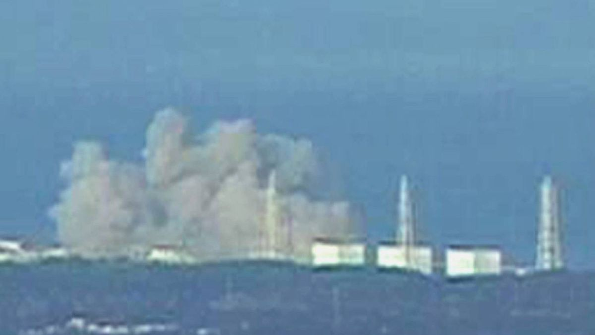 Smoke rises from Fukushima Daiichi 1 nuclear reactor after an explosion March 12, 2011 in this still image from a video footage. An explosion blew the roof off the unstable reactor north of Tokyo on Saturday, Japanese media said, raising fears of a disastrous meltdown at a nuclear plant damaged in the massive earthquake that hit Japan.