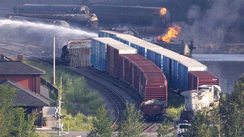 Train operator blames air brakes for derailment, explosions in Quebec