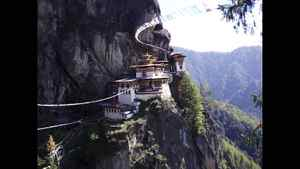 Ted Glenn photo: Tiger's Nest, Bhutan - Tiger's Nest, a prominentHimalayan Buddhist temple, was built in 1692 in the cliffside of the upper Paro valley, Bhutan.