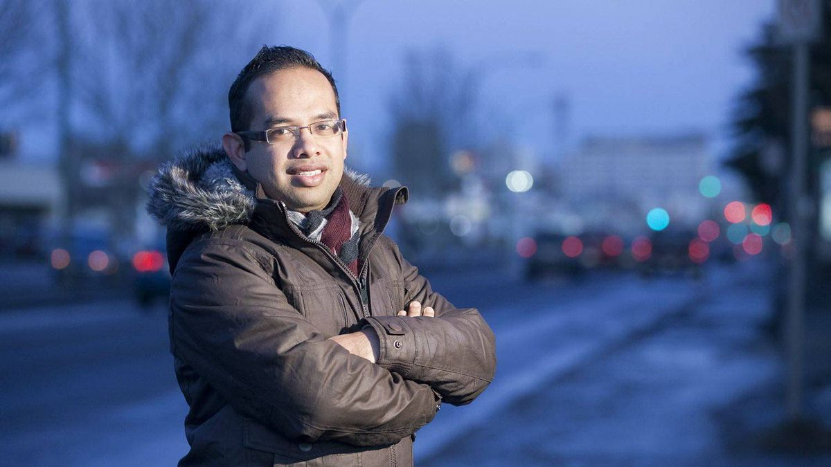 Sayful Ahmed immigrated to Saskatoon three weeks ago from Bangladesh. He is currently looking for work.