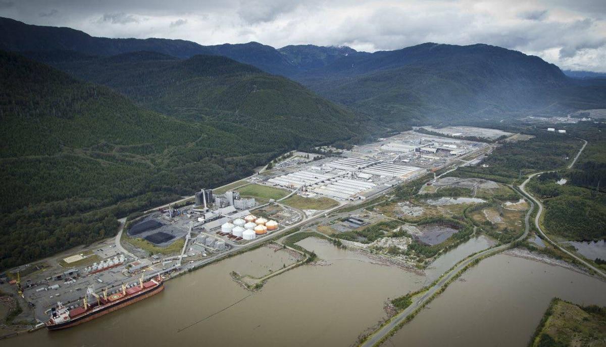 Rio Tinto Alcan smelter in Kitimat, B.C., Sept. 28, 2011.