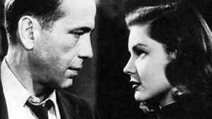 "Humphrey Bogart and Lauren Bacall in the 1946 version of ""The Big Sleep"""