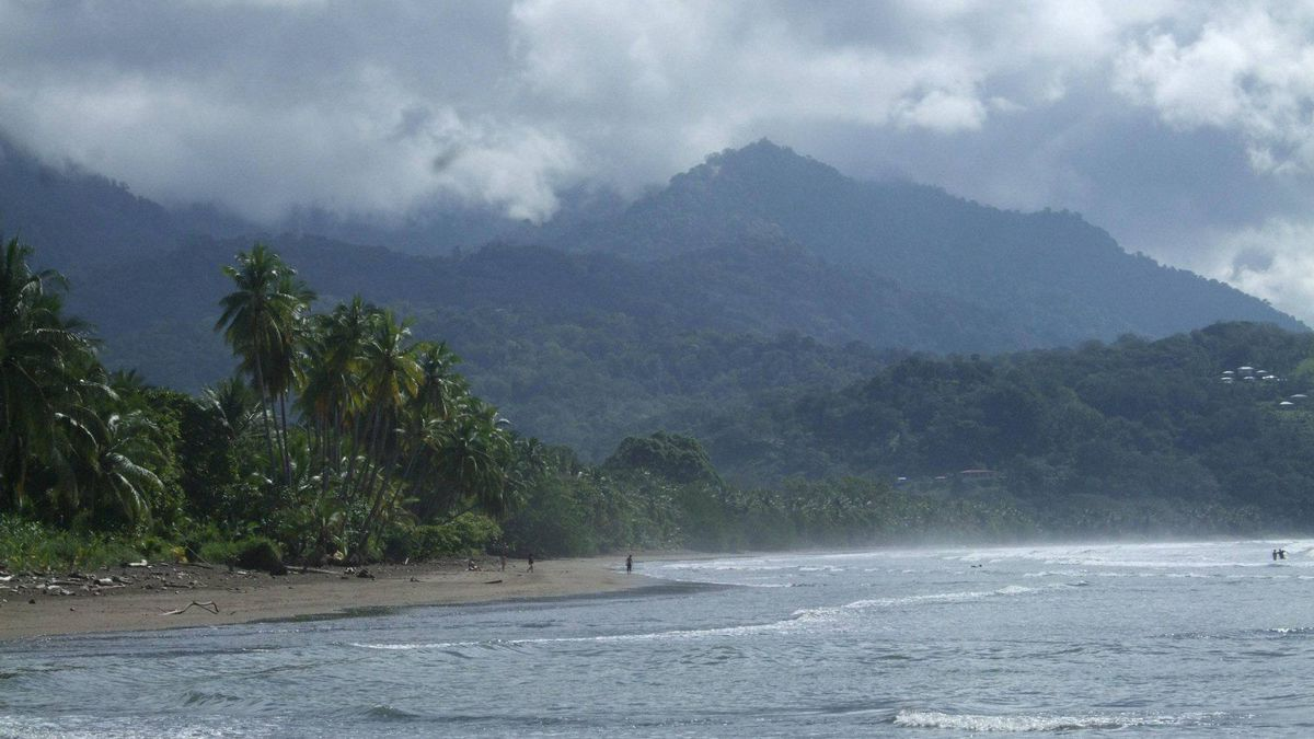 The beach at Marino Ballena National Park in southwest Costa Rica.