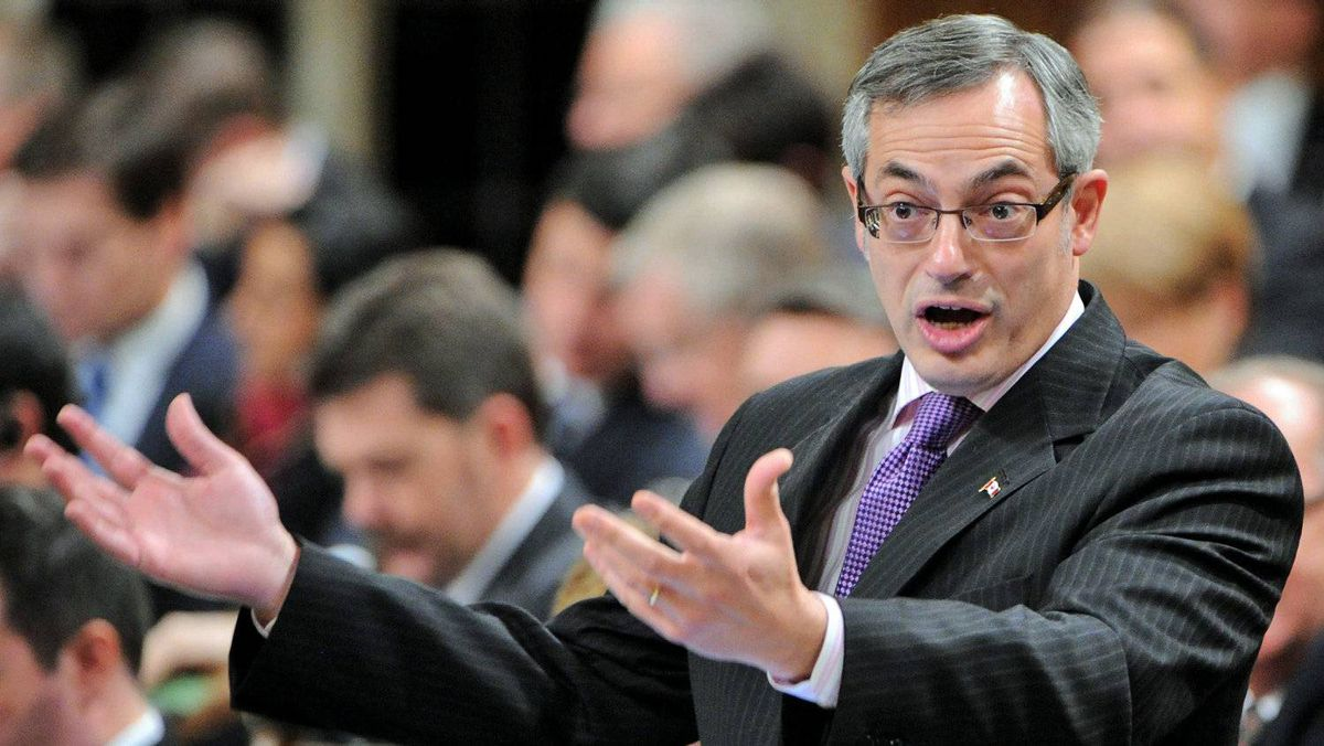 Treasury Board President Tony Clement speaks in House of Commons on Nov. 29, 2011.