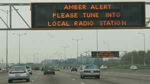 An Amber Alert is seen on highway signs.