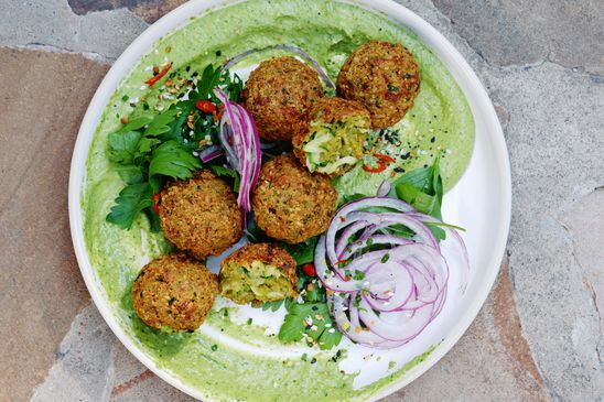 Use up the last of the season's zucchini with this twist on falafel