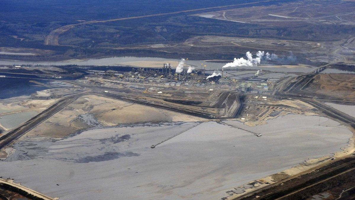 The Suncor tar sands plant and tailings pond at their tar sands operation north of Fort McMurray, Alberta, November 3, 2011.
