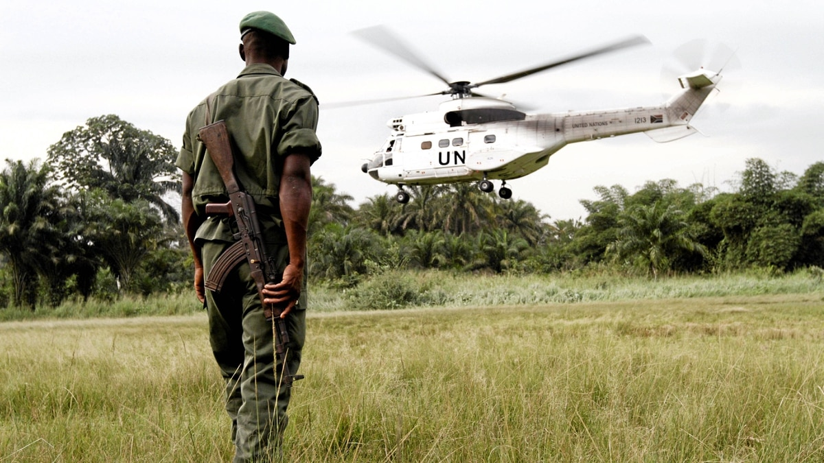 A Congolese soldier in the northeastern DRC in September, 2010.