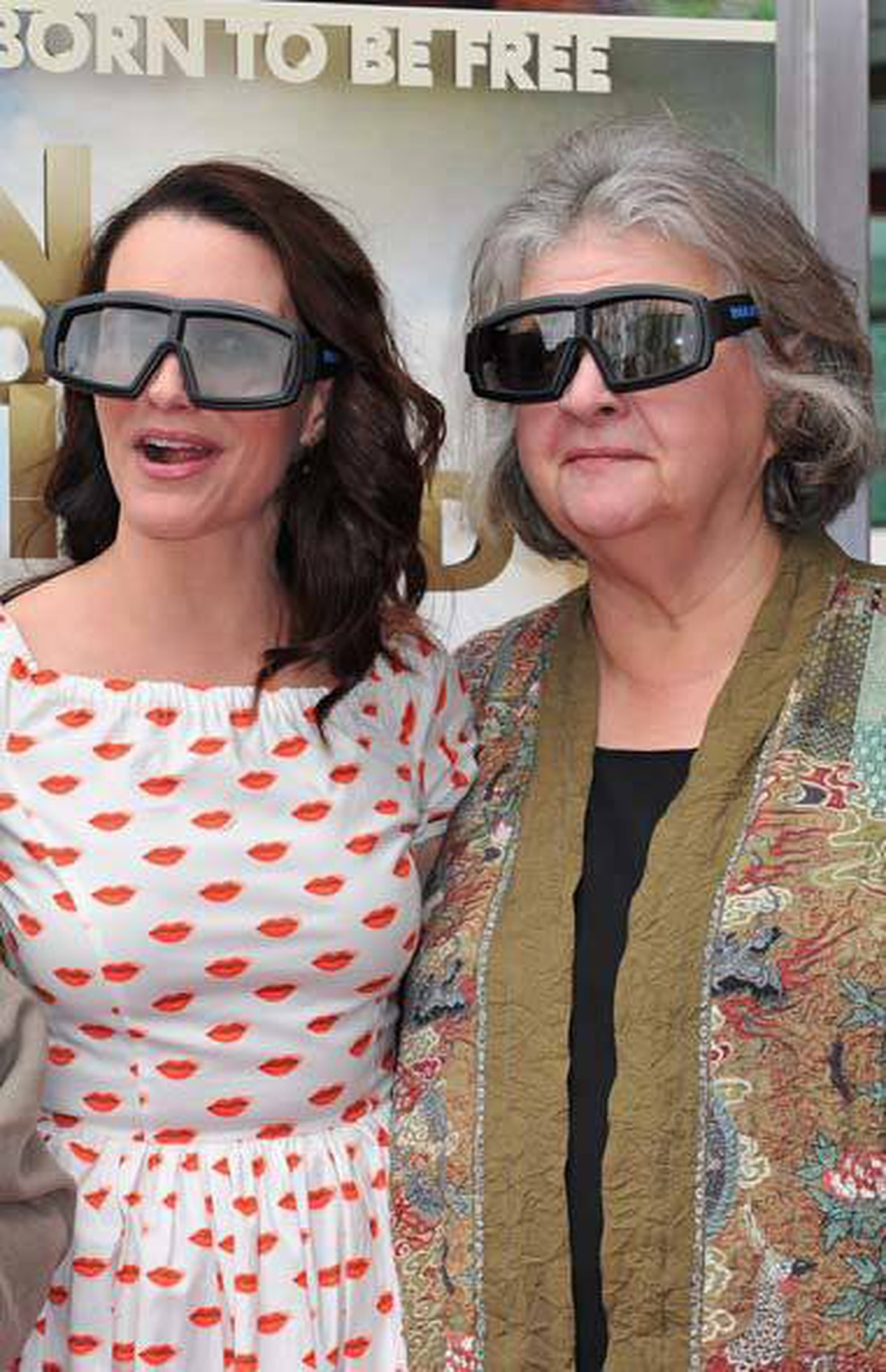 """Actress Kristin Davis (left) at the """"Born To Be Wild 3-D"""" premiere in Los Angeles."""