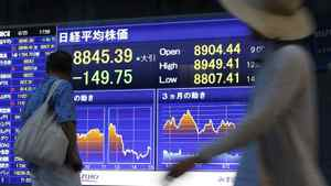 Concerns over the value of the yen and pushed the Nikkei average to a 16-month low on Wednesday.