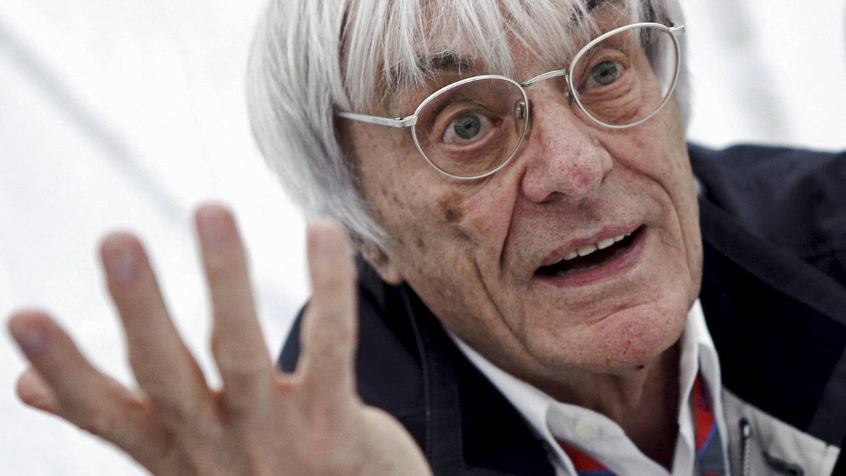 Formula One commercial supremo Ecclestone gives an interview prior to the German F1 Grand Prix at the Nuerburgring circuit