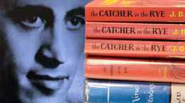 Copies of J.D. Salinger's classic novel 'The Catcher in the Rye' as well as his short stories volume 'Nine Stories' are seen at the Orange Public Library in Orange Village, Ohio.