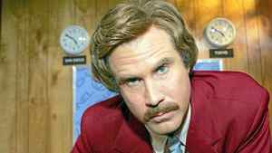 Will Ferrell in character as iconic anchorman Ron Burgundy. A sequel is in the works.