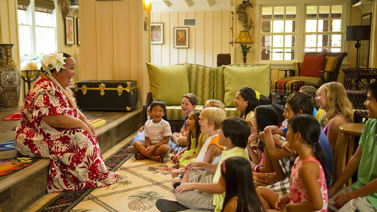 Aulani's kids club is called Aunty's Beach House, where young guests explore Hawaiian culture through wildlife and nature programs, arts and crafts, Disney movies and traditional Hawaiian games.