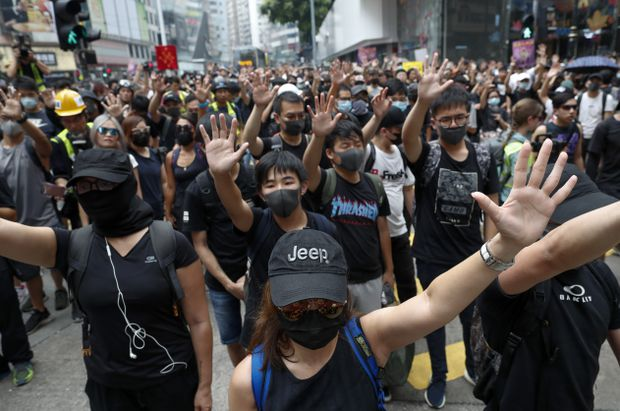 Hong Kong protesters use China's National Day as a new chance to demand action